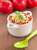 Tomato soup with Basil — Stock Photo