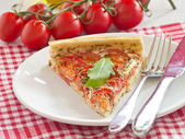 Tomato quiche — Stock Photo