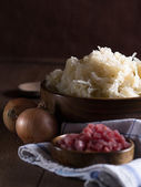 Raw sour cabbage — Stock Photo