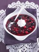 赤いフルーツ ゼリー — ストック写真