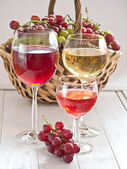 Wine in glasses — Stock Photo