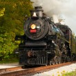 Stock fotografie: Steam train close