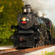 Steam train close - Foto Stock