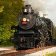 tren de vapor cierre — Foto de Stock