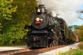 Steam train close — Stock Photo