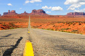 Monument Valley highway — Stock Photo