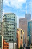 Hancock above the city — Stock Photo