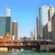 Chicago from the river - Stock Photo