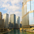Chicago River titans — Stock Photo