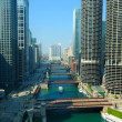 Chicago river scene — Stock Photo
