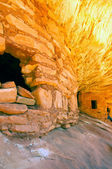 индийские скальные жилища — Стоковое фото
