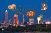 Cleveland fireworks — Stock Photo