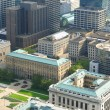 Downtown Cleveland aerial — Stockfoto
