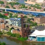 Cleveland Wohnungen Antenne — Stockfoto
