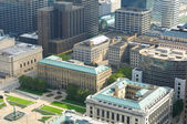 Downtown Cleveland aerial — Stock Photo