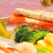 Party sandwich and extras — Stock Photo