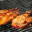BBQ pork chops - Stock Photo