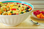 Pasta salad and side — Stock Photo