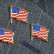 Three flag pins — Stockfoto