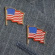 Two flag pins — Stockfoto