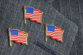 Three flag pins — Stock Photo