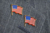 Two flag pins — Stock Photo