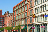 Warehouse District exteriors — Stock Photo