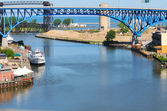 Mouth of the Cuyahoga — Stock Photo