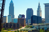 Cleveland downtown — Stock Photo