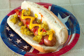 American hot dog — Stock Photo