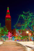 Terminal Tower Christmas — Stock Photo