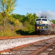 Old-time passenger train — Stock Photo