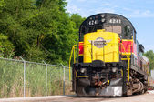 Passenger locomotive — Stock Photo