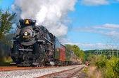 Parní lokomotiva — Stock fotografie