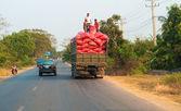 Cambodian traffic — Stock Photo