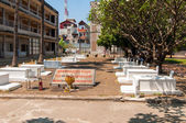 Tuol Sleng graves — Stock Photo