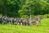 Marching to battle — Stock Photo