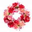 Stock Photo: Rose Wreath