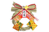 Shinto straw festoon decorating New Year in Japan — Stock Photo