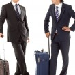 Young businessmen on a business trip — Stock Photo