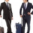 Stock Photo: Young businessmen on business trip