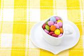 Kolorowe czekolada i kawa — Zdjęcie stockowe