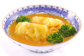 Stuffed cabbage — 图库照片