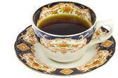 Цветочные кофе Кубок — Стоковое фото