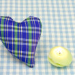 Royalty-Free Stock Photo: Heart and a candle