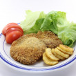 Stock Photo: Pork cutlet