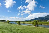 Riverside landscape of summer — Stock Photo