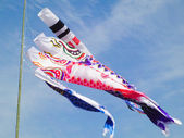 Carp streamers flying in the sky — Stock Photo
