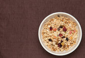 Fruits granola — Stock Photo