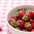 Stock Photo: Strawberries in a bow